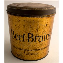 Beef Brains Vintage Tin