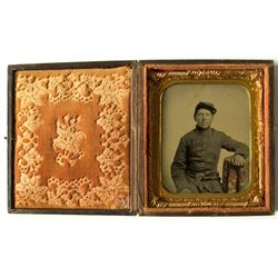 Daguerreotype, 1/6 Plate, Civil War Soldier