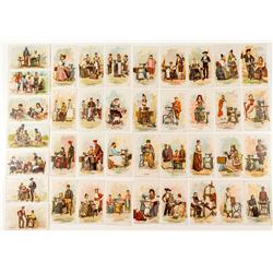 Collection of Color Advertising Cards for Singer Manufacturing Co. (sewing machines)
