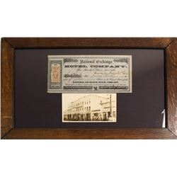 National Exchange Hotel Company Stock Certificate