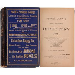 1895 Nevada County Directory