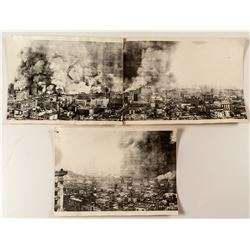 3 Panorama Sections of The San Francisco Earthquake