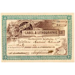 Schmidt Label & Lithographic Co. Stock Certificate