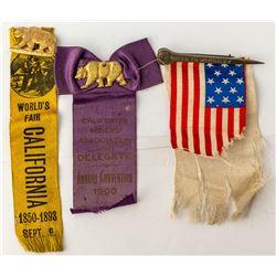 Three California Historical Ribbons