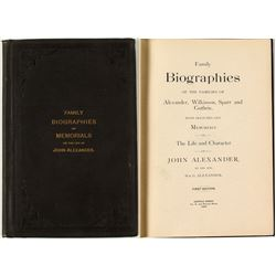 Rare Biographical Work on John Alexander