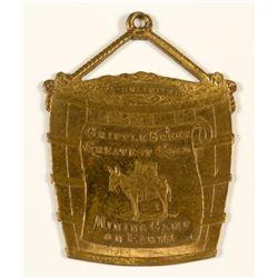Souvenir Cripple Creek Mining Camp Badge