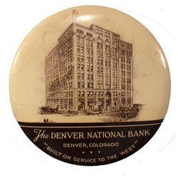 Large Denver National Bank Advertising Mirror