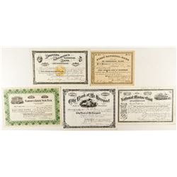 Eastern Bank Stock Certificates Group (5) 1903-1927
