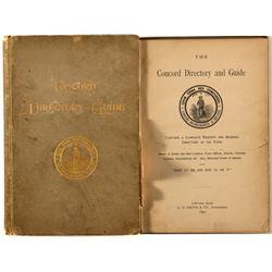 Concord Directory & Guide (1892)