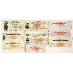 Banking House of L.H. Hershfield & Bro. Revenue Check Collection