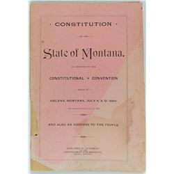 First Constitution of the State of Montana