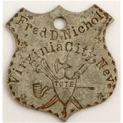 Fred D. Nichol, Virginia City, Nevada Identification Tag