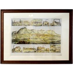 GT Brown / Howell Lithograph of Virginia City, Nevada