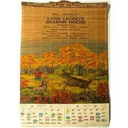 Sharon House Bamboo Calendar featuring Chinese Food