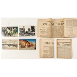 Virginia City Ephemera (incl. Rare Postcard)