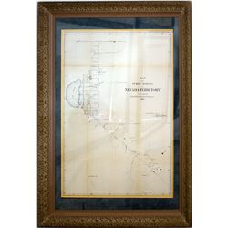 Nevada Territory Framed Map