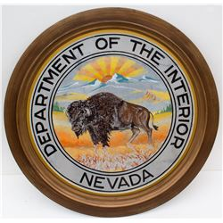 Dept of Interior Nevada Buffalo Painting