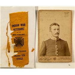 Indian Wars Cabinet Card and Veterans Ribbon