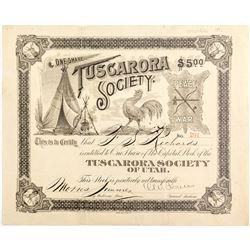 Tuscarora Society Stock Certificate