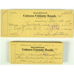 Colusa County Bank Checks