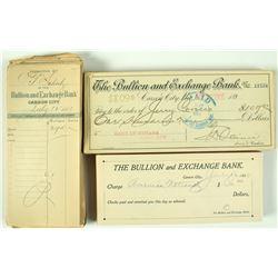Bullion and Exchange  Bank Checks