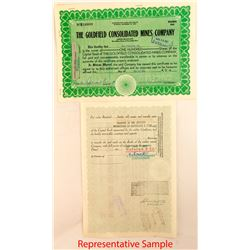 Goldfield Consolidated Mines Company Stock Certificates 4