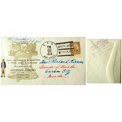 Postal cover addressed to Governor Richard Kirman