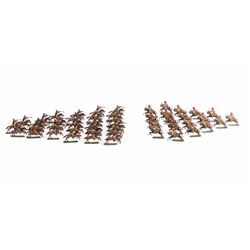 Cowboy and Indian Cast Lead Toy Figure Collection