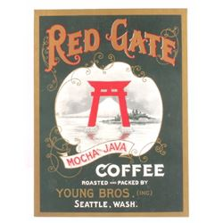 Red Gate Coffee Early 1900 Seattle Advertisement
