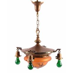 Antique Hand Painted Hanging Light