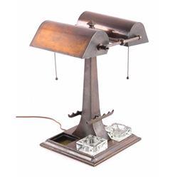 Art Nouveau Partners Desk with Inkwells RARE