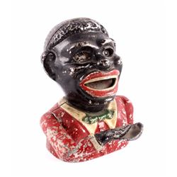 Jolly Face Black Americana Mechanical Bank