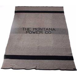 Montana Power Company Pendleton Wool Blanket