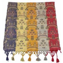 Antique Four Color Victorian Portiere Curtain