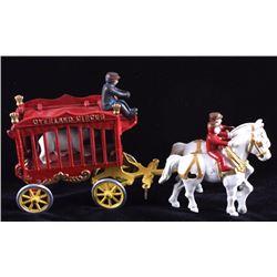 Kenton Overland Circus Cage Wagon w/ Polar Bear