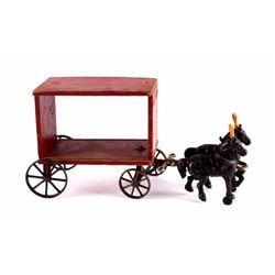Arcade Cast Iron & Wood Circus Wagon c. 1910's