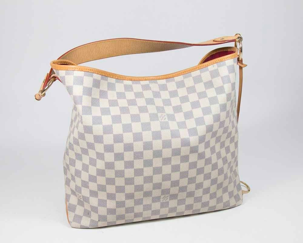 0e9fcf64522d Image 1   Louis Vuitton Blue   White Checker Purse ...