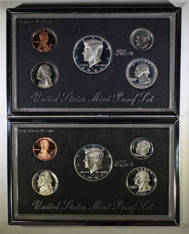 1994 S Silver Proof Set With Box And COA