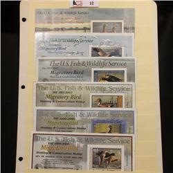 1999 RW66, 2000 RW67, 2002 RW69, 2003 RW70, & 2011 RW78 Federal Migratory Bird Hunting Stamps. All a