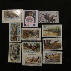 (10) Different Iowa Wildlife Habitat Stamps