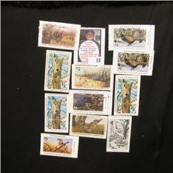 (12) Iowa Wildlife Habitat Stamps, only a couple of duplicates.