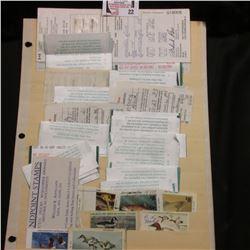 1999 Canadian Migratory Game Bird Hunting Permit with Wildlife Habitat Stamp; 2001 Iowa Resident Hun