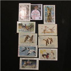 1980, 82, & 84 Iowa Wildlife Habitat Stamp, signed; 1973, 74, 78, 82, 84, & 89 Iowa Migratory Waterf