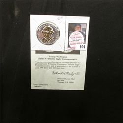 """George Washington Series W ""Double Eagle"" Commemorative"" with Certificate of Authenticity, layered"