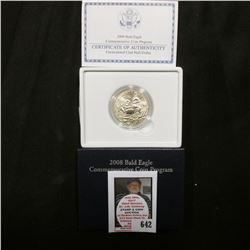 2008 S Bald Eagle BU Commemorative Half-Dollar in original case as issued. Mtg. 750,000.