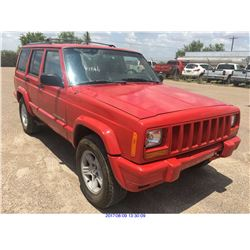 2001 - JEEP CHEROKEE // TEXAS REG ONLY // SALVAGE TITLE