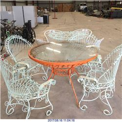(2) PATIO TABLE AND CHAIR SETS