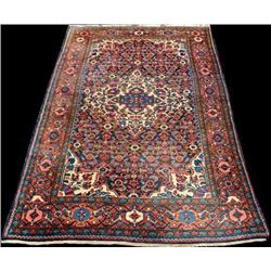 Semi Antique Persian Malayer Handmade Rug