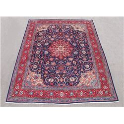 Simply Beautiful Finely Contrasted Persian Mahal Rug 10x13
