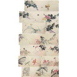 Qi Baishi 1864-1957 Watercolour Long Hand Scroll